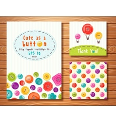 set with cute buttons Perfect for baby vector image