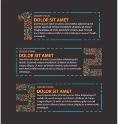 Three steps info graphics vector image