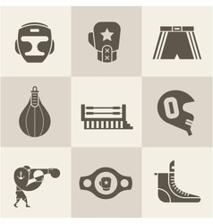 Boxing icons vector image vector image
