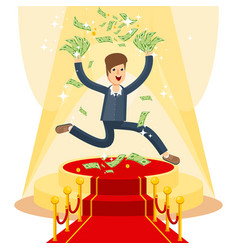 businessman on red carpet vector image vector image