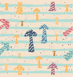 childish seamless texture with arrows hand drawn vector image