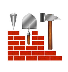 construction of buildings symbol for business vector image