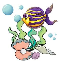 Creatures under the sea vector image vector image