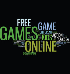 free online game downloads text background word vector image vector image