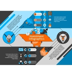 Investment Line Infographic Set vector image