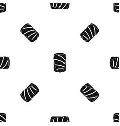 salmon pattern seamless black vector image vector image