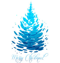 water christmas tree vector image vector image