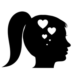 Woman in love vector image vector image
