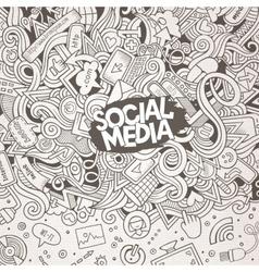 Cartoon doodles internet frame vector image vector image