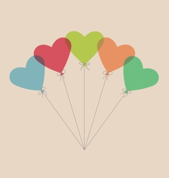 Five simple air balls in the shape of a heart vector image
