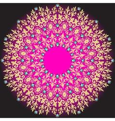 golden circular pattern on a dark vector image vector image