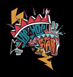 Hip hop graffiti vector
