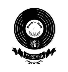 rock n roll forever vinyl vector image