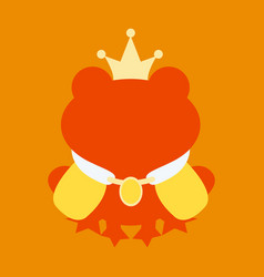 A cartoon frog prince with crown without face vector