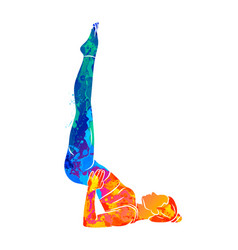 abstract young woman is engaged in yoga or pilates vector image
