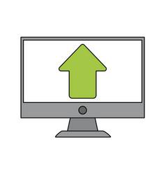 arrow computer monitor vector image vector image