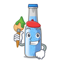 Artist soda water and ice cubes cartoon vector