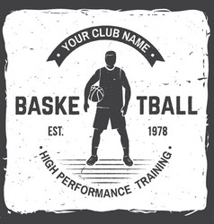 basketball club badge vector image