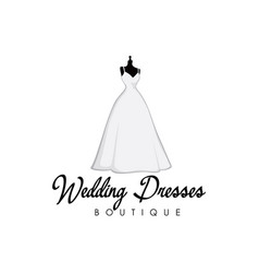 beautiful monochrome bridal boutique logo wedding vector image