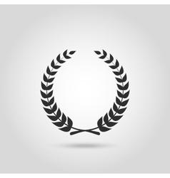 Black laurel silhouette foliate circular vector