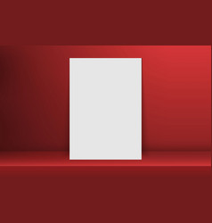 blank frame in empty white color shelf vector image