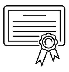 Born birth certificate icon outline style vector