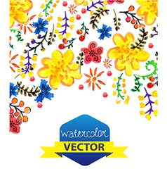 Bright color floral background vector