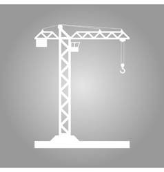 Building Tower crane icon vector image