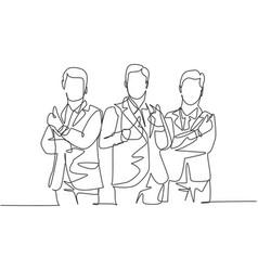 business owner teamwork concept single line vector image