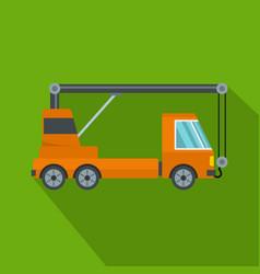 Car crane icon flat style vector