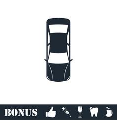Car icon flat vector image