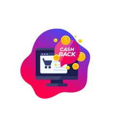Cashback offer refund online shopping vector