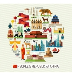 China Travel Collection vector image
