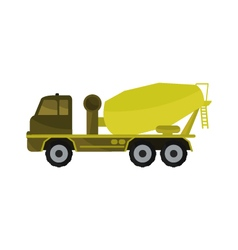 concrete mixer on a white background vector image