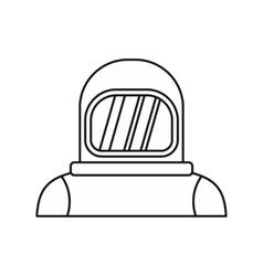 Cosmonaut icon outline style vector
