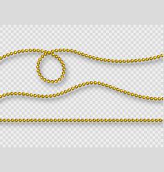decorative elements - realistic purple beads vector image