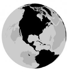 earth USA vector image