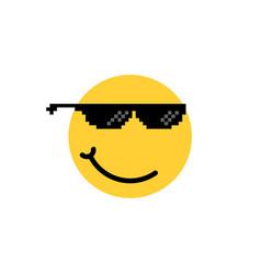 emoji like a boss with smirk vector image