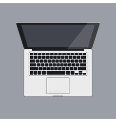 eps 10 Top view of laptop vector image
