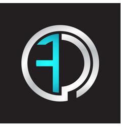Fc initial logo linked circle monogram vector