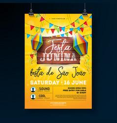 festa junina party flyer vector image