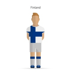 Finland football player soccer uniform vector