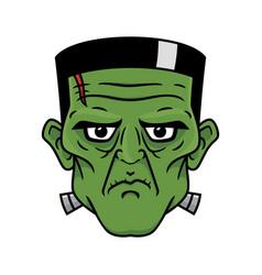 Frankensteins head vector