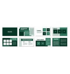 green rectangles presentation template flat vector image