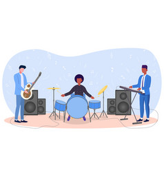 group musicians vector image