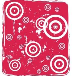 grungy circles vector image