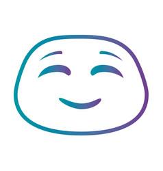 Happy emoji kawaii character vector