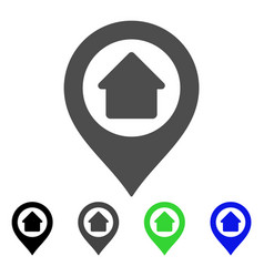 Home marker flat icon vector