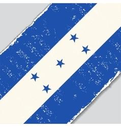 Honduras grunge flag vector image