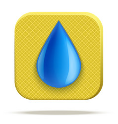icon of waterproof material vector image